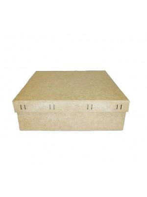 Caixa Quadrada Passa Fita G 30X30X9,5 - MDF 3 MM