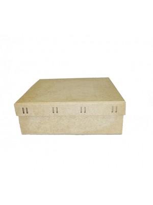 Caixa Quadrada Passa Fita M 23X23X8 - MDF 3 MM