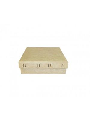 Caixa Quadrada Passa Fita P 20X20X6 - MDF 3 MM