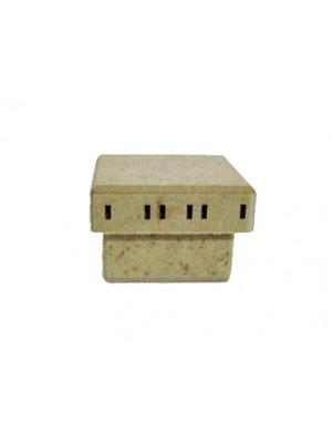 Caixa 6x6x4 passa fita - MDF 3 MM