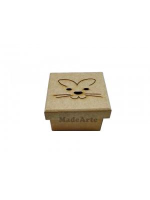 Caixa coelho Páscoa - 8x8x5 - MDF 3 MM