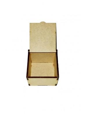 Caixa encaixe - Menina 6x6x4,5 - MDF 3 MM