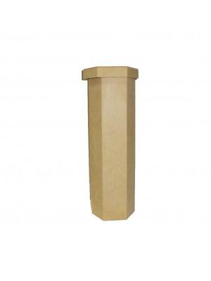 Caixa vinho sextavada - 11x11x34 - MDF 3 MM