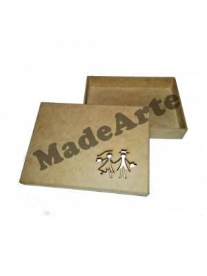 Caixa convite tampa sapato Noivos 20x15x3 - MDF 3 MM