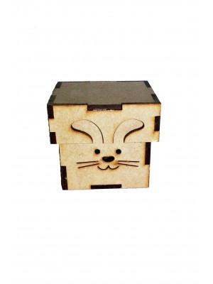 Caixa coelho Páscoa 5x5x5 - MDF 3 MM