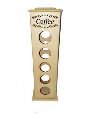 Torre fixa - Coffee - 20 capsulas DG - 10X10X38 CM