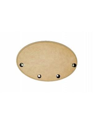 Porta chave oval tupiado - 18.5x12.5