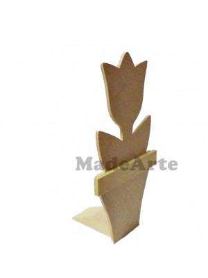 Cunha tulipa vaso ( suporte para porta ) - 13.5x13.5x26