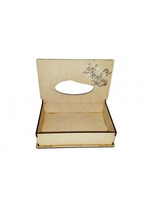 Caixa lenço vazada flor - 20x13x5 - MDF 3 MM