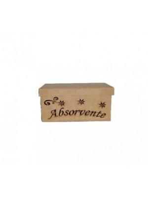 Caixa absorvente vazada - 21x10.5x10 - MDF 3 MM
