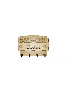 Porta carta e chave simples vazado - 20x5x15.5