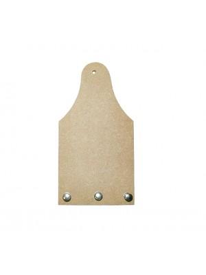 Porta chave tabua 3 pinos - 10x19