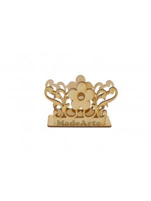 Porta guardanapo 1 flor arabesco - 11x4x8