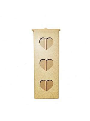 Porta Papel Higiênico Coração para 3 rolos