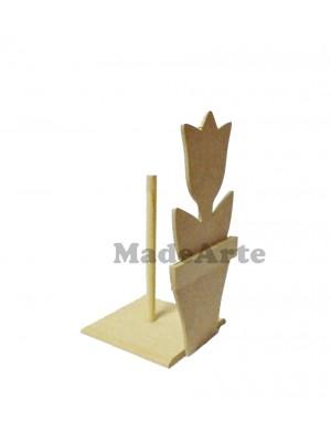 Porta rolo guardanapo tulipa vaso - 13.5x13.5x27