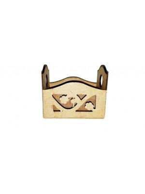 Porta sachê flor vazado - 11x8x9