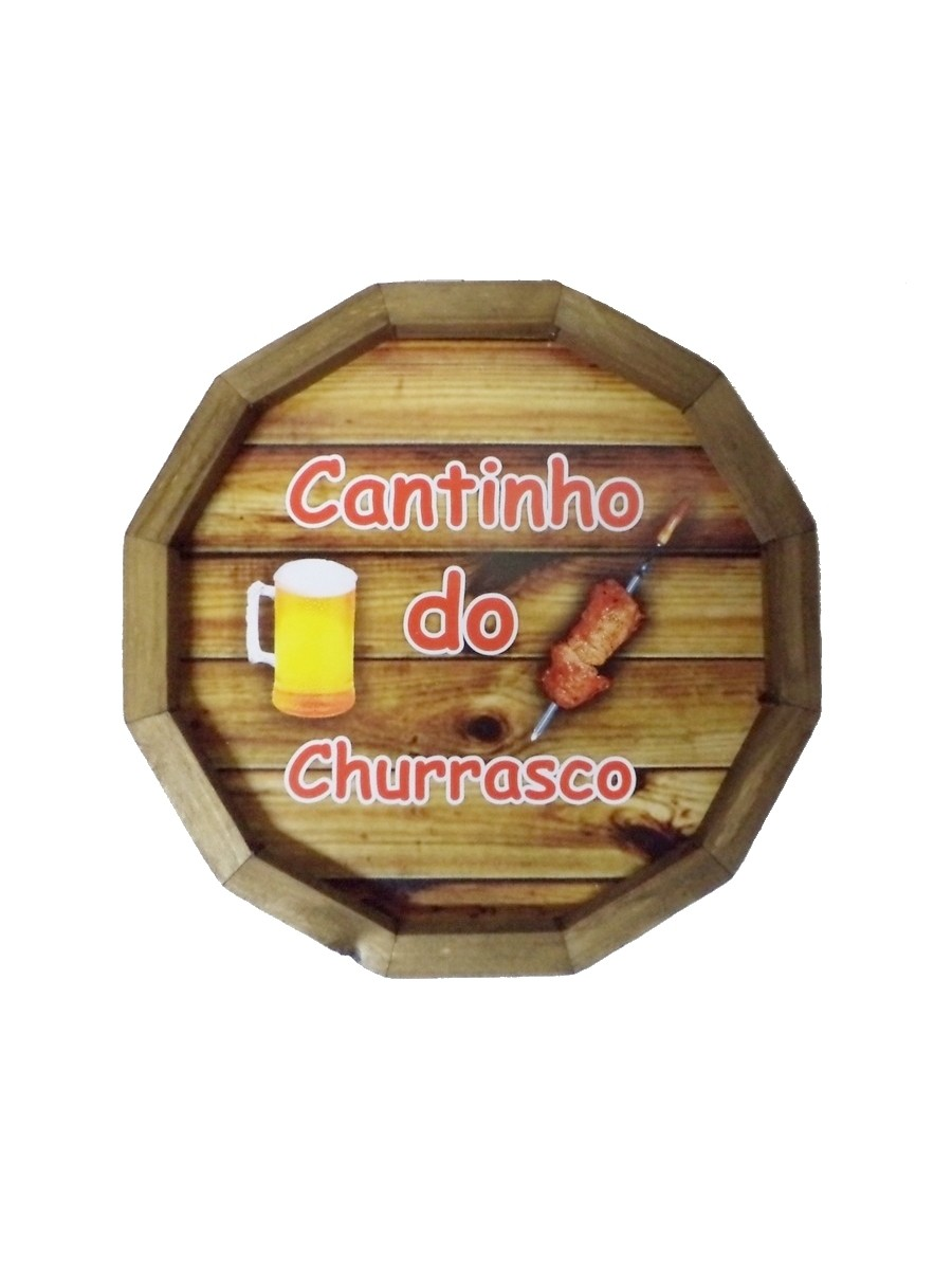 Tampa barril - Cantinho do churrasco 32x32 - Adesivado