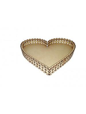 Bandeja pérola coração G - 30X26X5