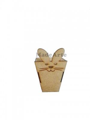Cachepô coelho pascoa - 8x8x12.5