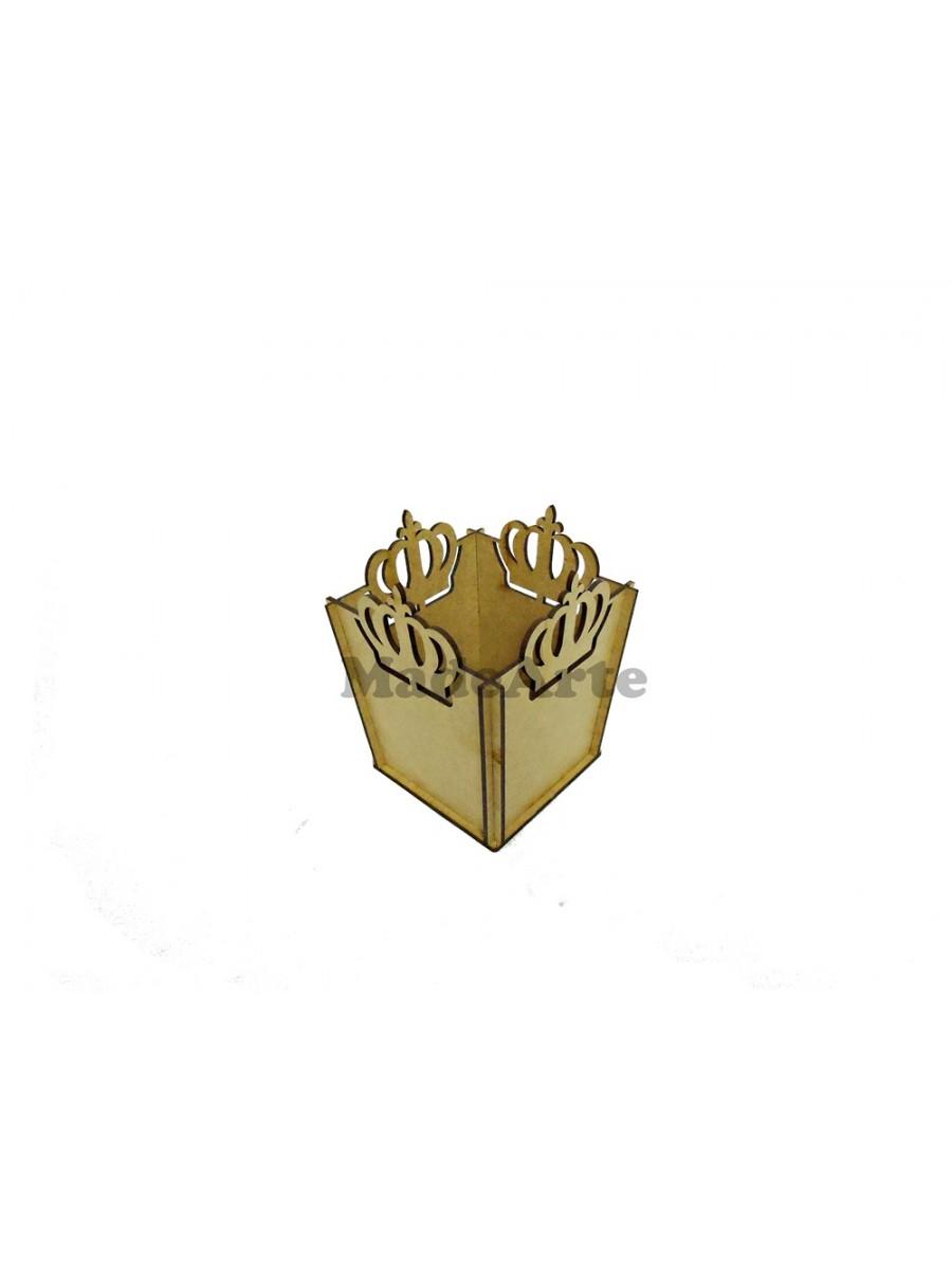 Cachepô coroa - 11x11x14