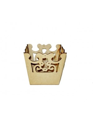 Cachepô florido vazado - 11x11x11