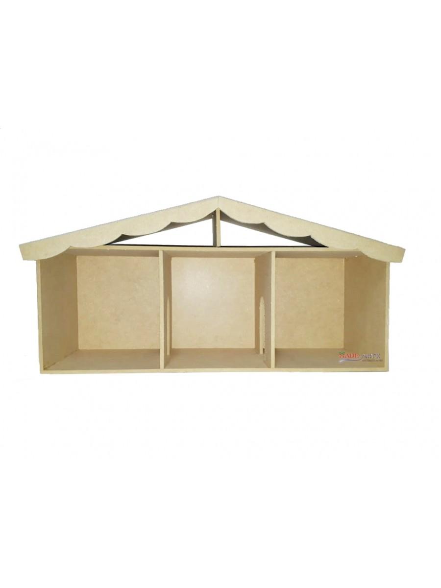 Casa boneca 3 comodos - 64.5x18.5x30