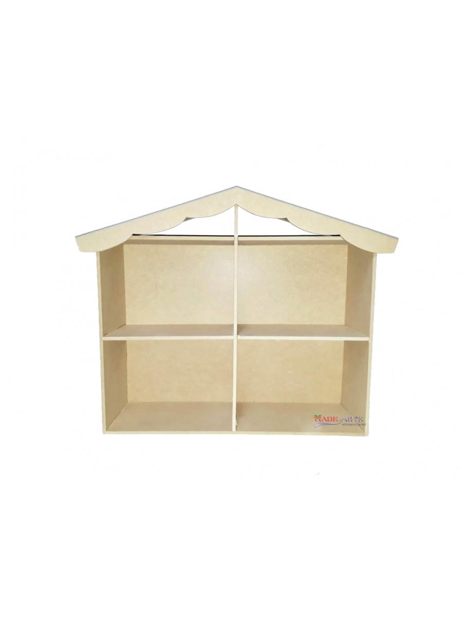 Casa boneca 4 comodos 1 - 57.5x15.5x45