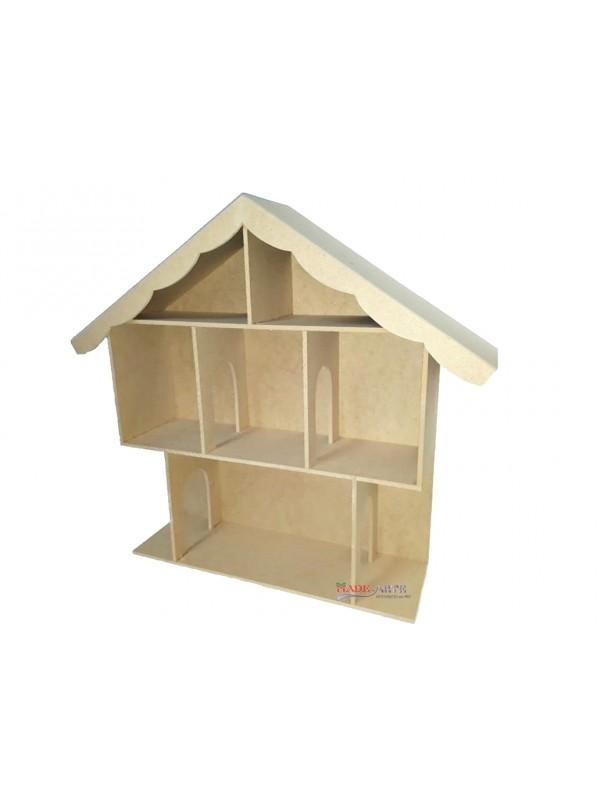 Casa boneca 4 comodos 2 - 65x15x58.5