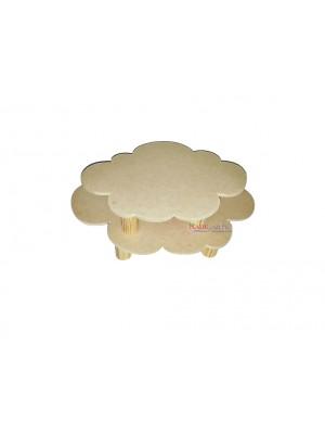 Bandeja nuvem - Kit 2 peças P / G MDF 6 MM
