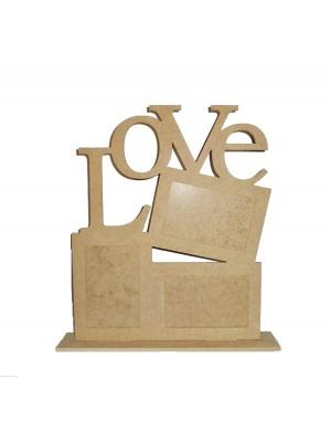 3 Porta retrato 10x15 base - Love
