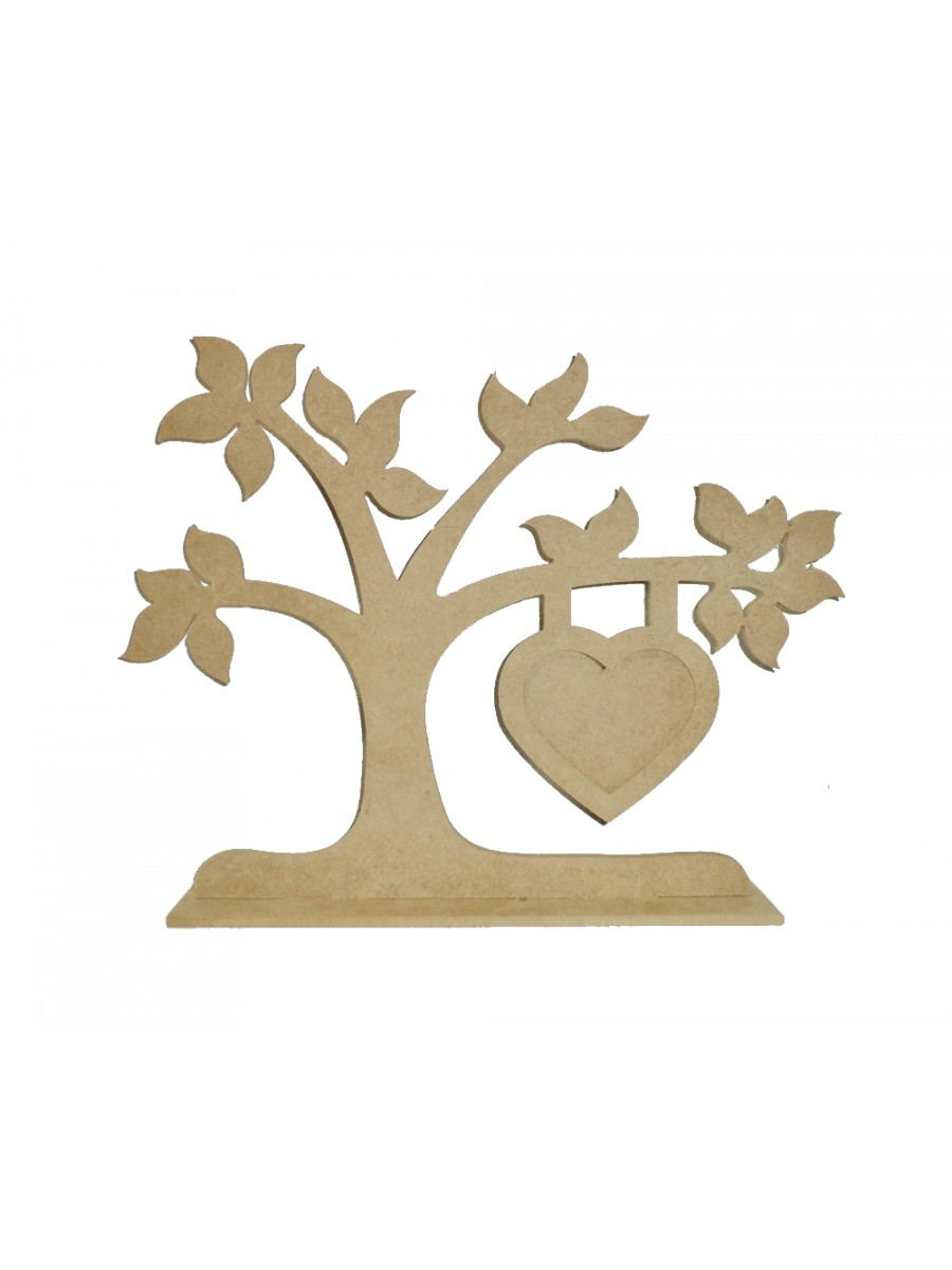 Árvore base porta retrato coração