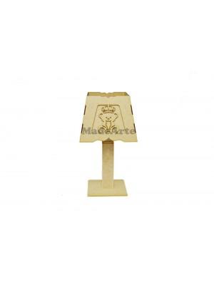 Abajur urso coroa 3 D - 18.5X18.5X35