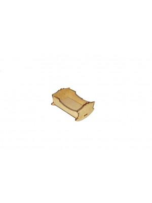 Berço balanço liso - 7.5x6x4