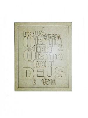 Quadro com frase - Deus é bom o tempo todo - 16x19