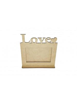 Porta retrato 10x15 base - Love