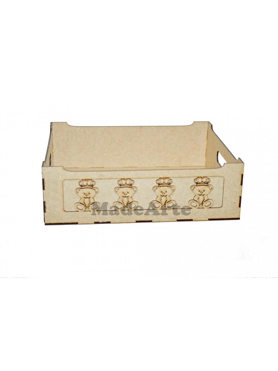 Porta treco urso coroa 3 D - 32X27X10