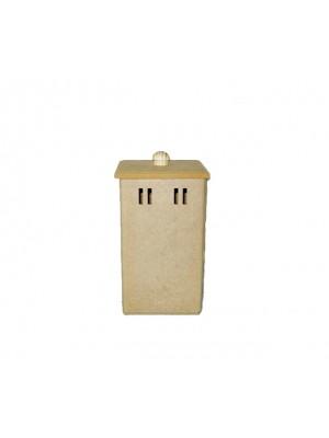 Pote porta cotonetes e algodão 2 passa fita - 7x7x12