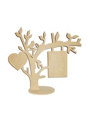 Árvore base porta retrato 10x15 e coração