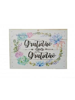 Quadro adesivado 20x30 - Gratidão gera gratidão