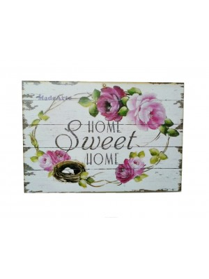 Quadro adesivado 30x20 - Home sweet home