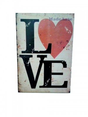 Quadro adesivado 20x30 - Love