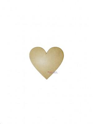 Placa Coração 9,5 cm - kit c/ 10 UNIDADES