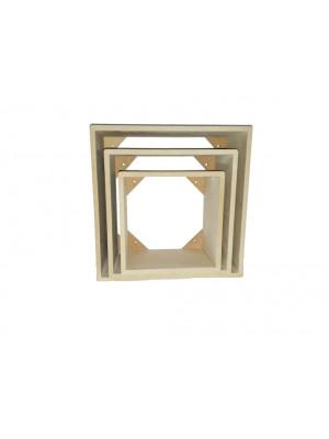 Trio nicho quadrado - 20x20 - 25x25 -  - 9 mm