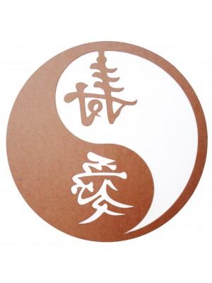 Mandala yin yang - paz e amor - 66x66