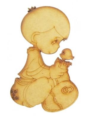 Bebê com pintinho - 8.5x14