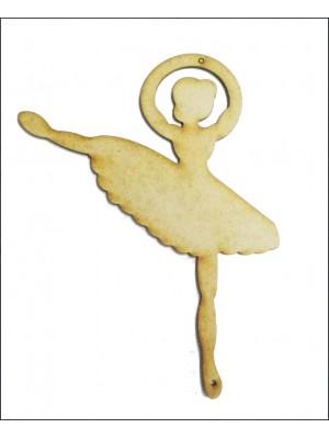 Bailarina 1 -Perna erguida - 12x16