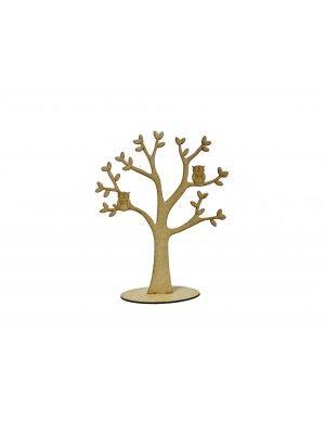 Árvore 2 corujas - 22x26.5