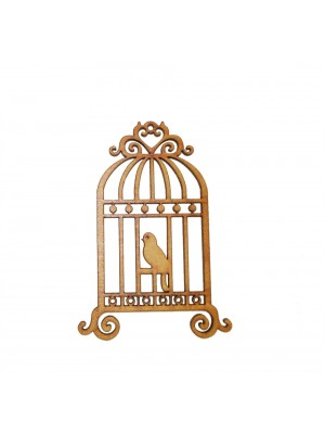 Gaiola G alça coração 1 pássaro - 21x30
