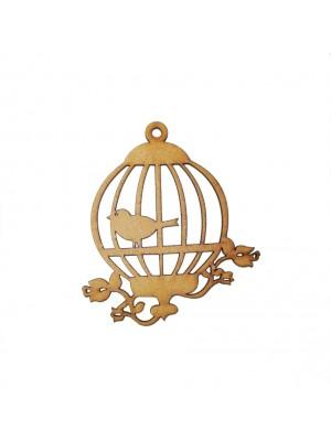 Gaiola G redonda 1 pássaro - 24.5x29.7