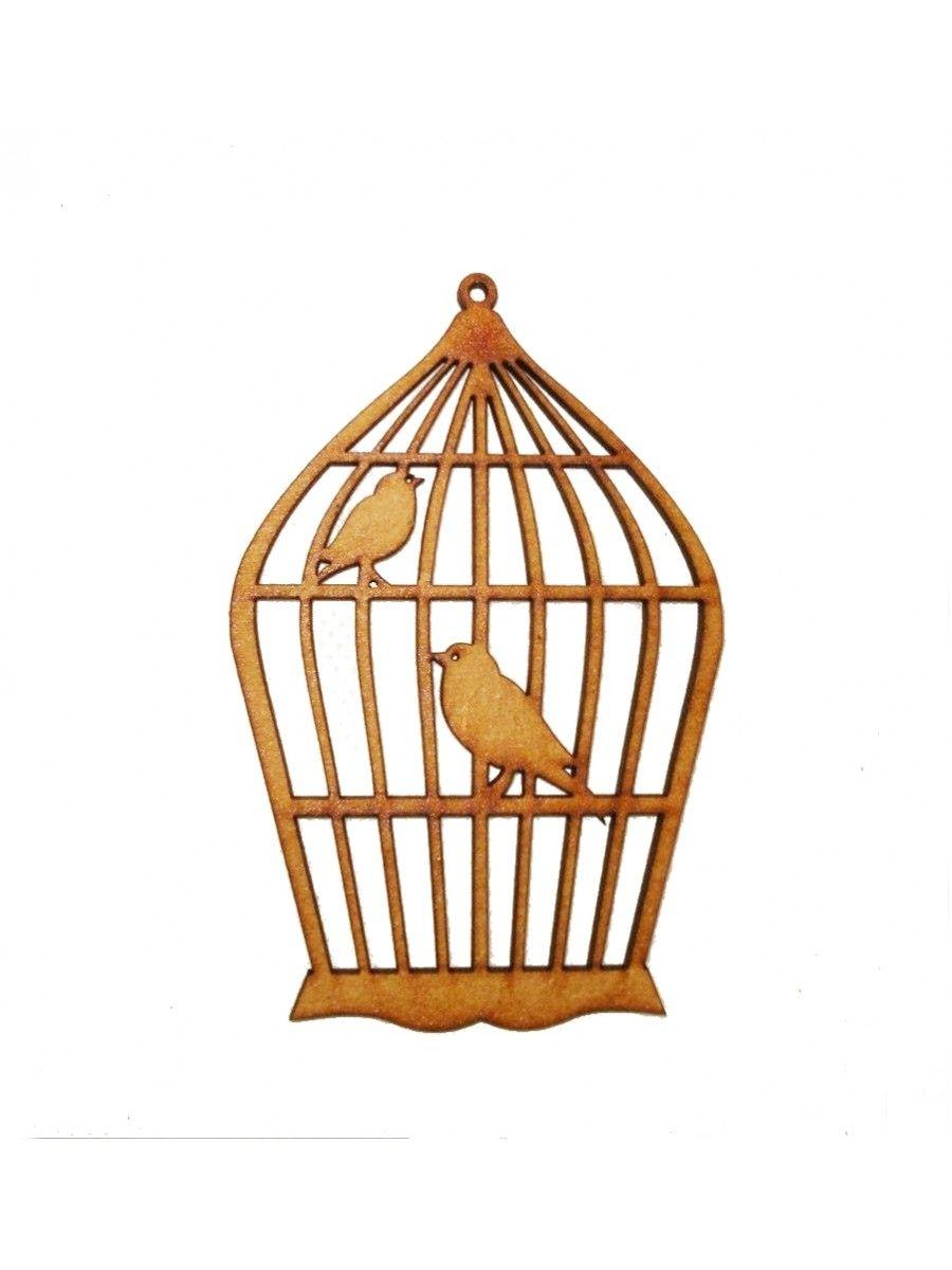 Gaiola G simples 2 pássaros - 19.5x29.5